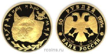 50 рублей 1995 года Рысь
