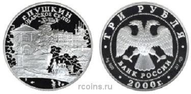 3 рубля 2000 года город Пушкин (Царское Село) XVIII в. -