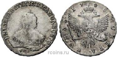 1 рубль  1748 года - СПБ