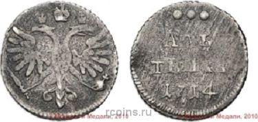 Алтын 1714 года