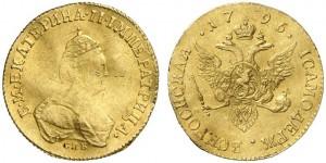 1 червонец 1796 года - Инициалы модельера