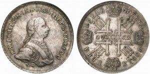 1 рубль 1762 года - СПБ
