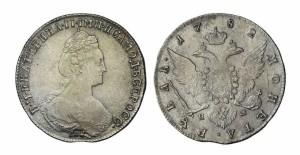 1 рубль 1782 года -