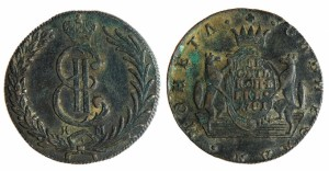 10 копеек 1781 года