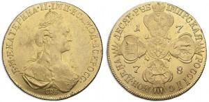 10 рублей 1778 года -