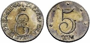 5 копеек 1787 года -