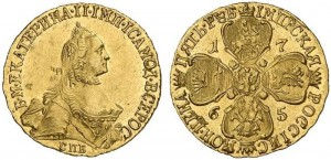 5 рублей 1765 года - СПБ СПБ.