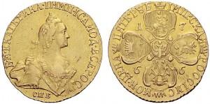5 рублей 1766 года