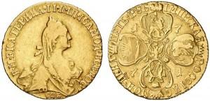 5 рублей 1771 года -