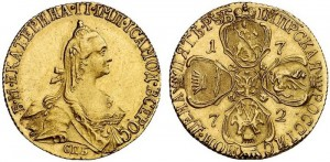 5 рублей 1772 года -