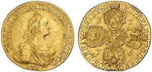 5 рублей 1776 года -