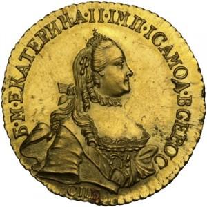 5 рублей 1777 года - НОВОДЕЛ. Тип 1764-1765.