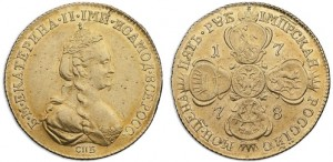 5 рублей 1778 года