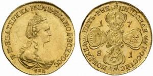 5 рублей 1781 года -
