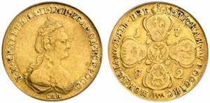5 рублей 1782 года -
