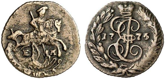 Монета 1774 года царская золотая монета 5 рублей цена