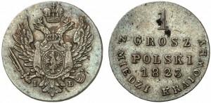 1 грош 1823 года