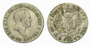 1 злотый 1819 года - Серебро