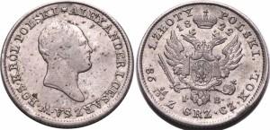 1 злотый 1822 года