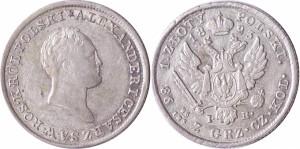 1 злотый 1823 года - Серебро