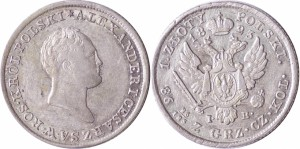 1 злотый 1823 года