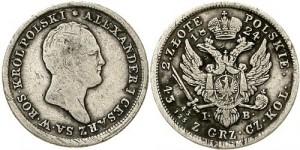 2 злотых 1824 года