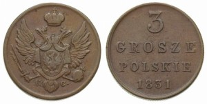 3 гроша 1831 года - Медь