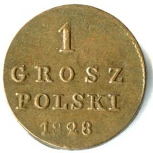1 грош 1828 года