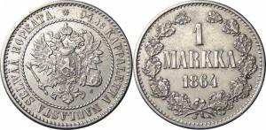 1 марка 1864 года - Серебро