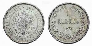 1 марка 1874 года