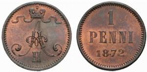 1 пенни 1872 года