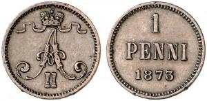 1 пенни 1873 года