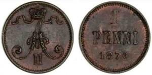 1 пенни 1876 года