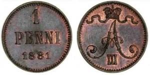 1 пенни 1881 года