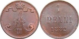 1 пенни 1882 года
