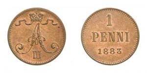 1 пенни 1883 года -