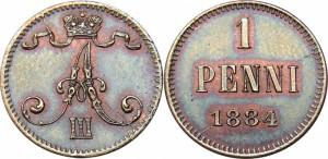 1 пенни 1884 года - Медь
