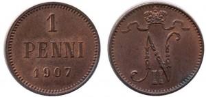 1 пенни 1907 года