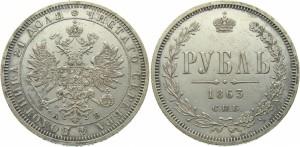 1 рубль 1863 года