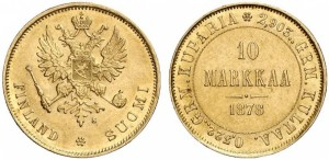 10 марок 1878 года