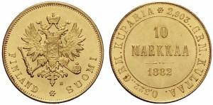 10 марок 1882 года - Золото