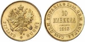 10 марок 1913 года - Золото