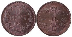 10 пенни 1876 года