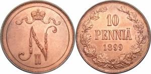 10 пенни 1899 года - Медь