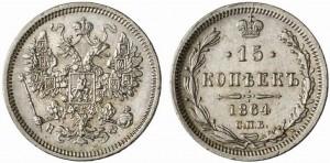 15 копеек 1864 года