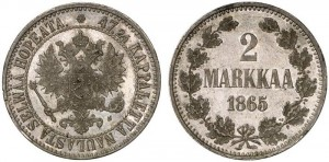 2 марки 1865 года - Серебро