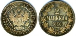 2 марки 1866 года
