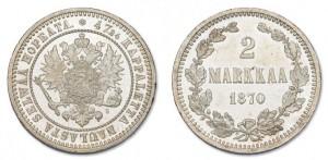 2 марки 1870 года