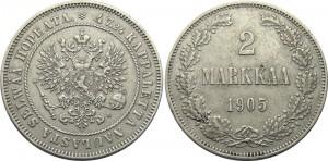 2 марки 1905 года - Серебро