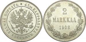 2 марки 1908 года - Серебро